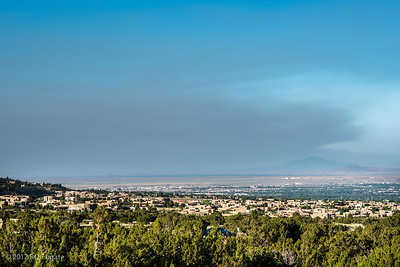 Smoke from Gila Whitewater-Baldy Complex fire as seen in Albuquerque the morning of May 27, 2012. Over 100,000 acres burned and 0% containment as of this morning.