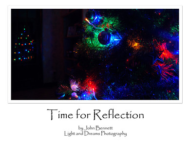 "01.01.13 - Time for Reflection?  This is an odd one, at the start of the new year we should be looking forward not back, so there is nothing profound about this, it is just a quirk of timing! I didn't take any photos worth sharing, but I did have a play with this shot of Christmas tree lights reflected in a glass door.  Thanks for your wonderful comments on my ""indoor fireworks"" shot yesterday, I've had a lot of fun with the Christmas tree lights one way or another :)"