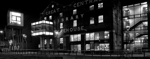 26.01.12 - Light Boxes  Another old view that you've seen before, but I like the way the lights make the building glow from the inside with this B&W treatment. I've just started an IT course which is taking up a lot of time, so commenting is going to be sparse again for a while I'm afraid.
