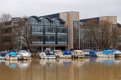 23.01.10 - Muddy Waters  This is a shot of Lincoln University across Brayford Pool this morning. The water is rarely clear, but after heavy rain it is so loaded with sediment that I'm surprised it can still flow!