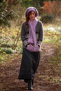 """05.03.14 - A Walk in the Woods 100 Years Ago  We had two publicity shoots for """"Tell Them of Us"""" yesterday, this is another to showcase the wonderful costumes that have been created for the movie. It was also filmed for our actress Bryony Roberts to add to her show reel. The striking thing we have noticed with the women's costumes is how many of them don't look out of place today!"""