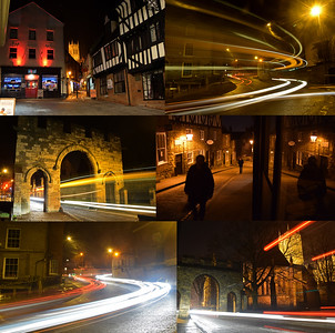 20.01.15 - In the Cold of the Night!  Another night, another guided photo walk, another collage! Some familiar views, some new ones. I try to do different things on the walks for people who have been on them before, but old favourites have to be done for the newbies, it is an interesting balance. All made more interesting by the piercing cold, that doesn't come over in the photos but makes life very difficult on these walks. The cold means that you can't stand around chatting quite as much as you'd like, and handling tripods is even more tedious than normal and rapidly turns your fingers into blocks of ice! But nonetheless we had some fun, and hopefully everyone learned something new and got some great photos