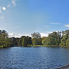 01.11.14 - November!<br /> <br /> After the hottest Halloween on record in the UK we had a glorious start to November too. This is a 2 shot photomerge panorama of Boultham Park Lake as I took the scenic route to the supermarket. I didn't expect to be able to walk to the shops in a t-shirt and shorts at this time of year, but I'm not complaining :)
