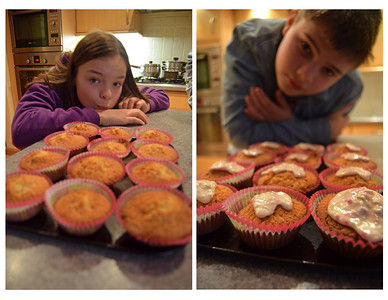11.01.15 -  The Icing on the Cake  The kids and I love baking cupcakes almost as much as we enjoy eating them! These were Baileys ones for the adults, we also did chocolate and vanilla for the twins. Wish you could taste them, but they've all gone :)