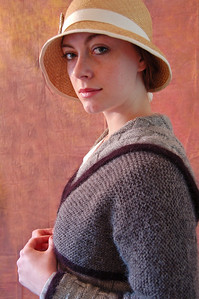 "18.01.14 - Edwardian Shoot  This is from the photoshoot yesterday to show off some of the wonderful costumes being made for our WW1 film ""Tell Them of Us"". My fellow producer and costumier Pauline Loven has created an army of knitters spread around the world from Orkney to Omaha, dedicated to recreating outfits from the period. Sometimes they are using genuine Edwardian knitting patterns, occasionally all they have to go on are old photos, but the results are all fantastic. These photos will now be used for the next level of publicity for the movie, including a Kickstarter crowd funding application to cover the costs of making these outfits and posting them around the world. The model is actress Bryony Roberts, who has worked with us many times before, playing parts as diverse as Queen Catherine Howard and Doctor Who's assistant ""Alice"" in our fan films :)"
