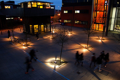 14.01.13 - Chasing Ghosts  A shot from the university campus last night at dusk, one of my favourite photographic locations at my favourite time of day