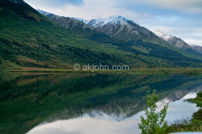 Morning calm at Lower Summit Lake.