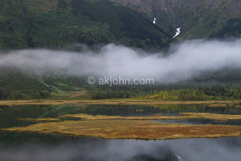 Tern Lake from the overlook vantage point along the Seward Highway.