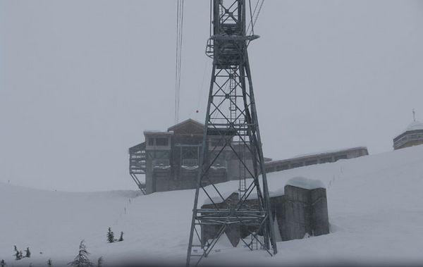 The 7 Glaciers Restaurant atop of Mt. Alyeska.