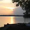 and nephew Wyatt on their annual travel trailer trip. Barklay Lake, KY was the 10 day destination....<br /> Campsite sunset!