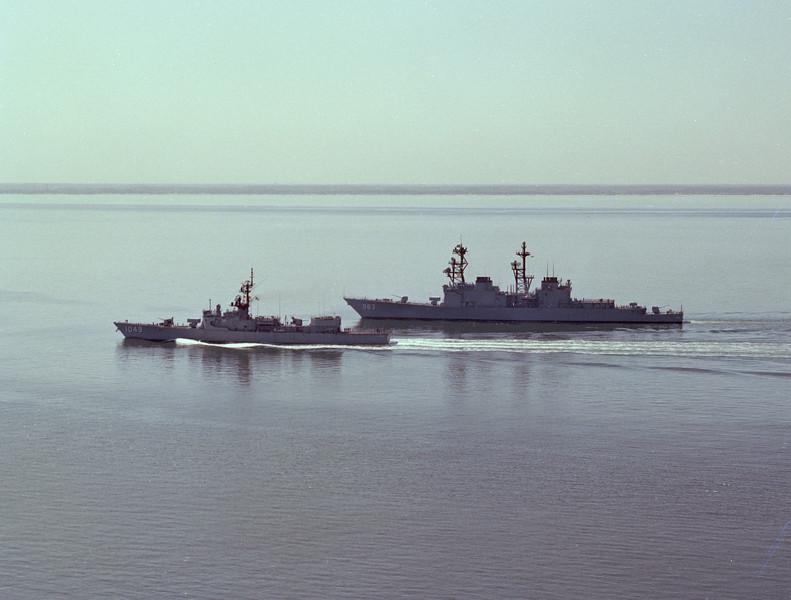 USS Spruance (DD-963)<br /> <br /> Date: March 14 1977<br /> Location: Hampton Roads VA<br /> Source: Nobe Smith - Atlantic Fleet Sales