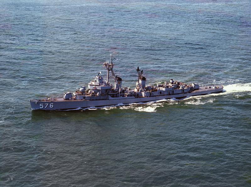 USS Murray (DD-576)<br /> <br /> Date: September 1964<br /> Location: Hampton Roads VA<br /> Source: Nobe Smith - Atlantic Fleet Sales