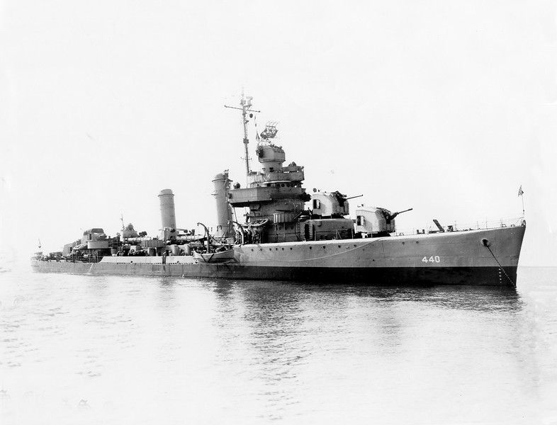 USS Ericsson (DD-440)<br /> <br /> Date: Unknown<br /> Location: Unknown<br /> Source: William Clarke - National Archives