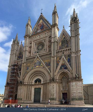ORVIETO CHURCH FRONT FACADE