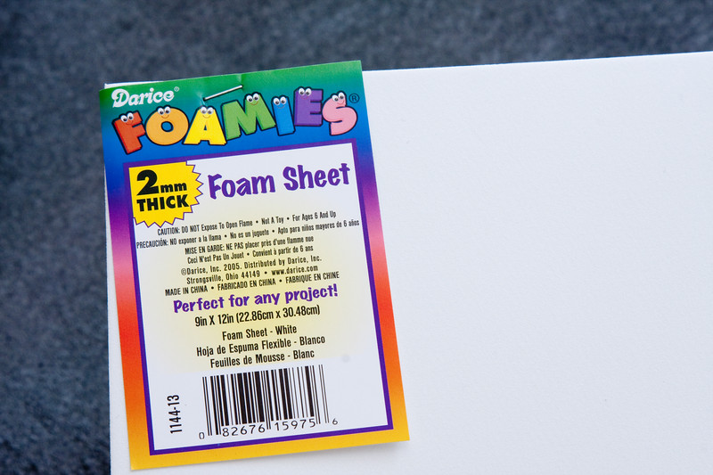 White foam is a cheaper alternative to silver metallic foam, but it will pick up dings and dents faster.