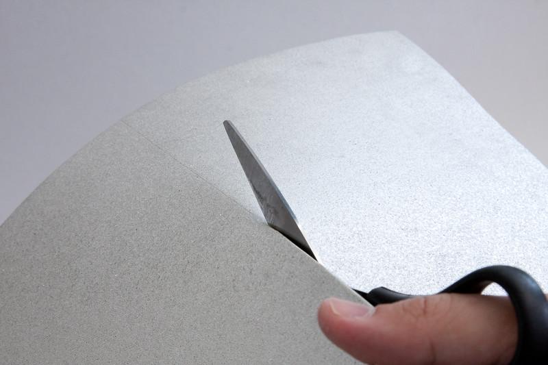 Cut the sheet in half.