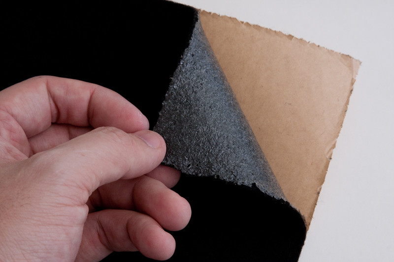 If using self-adhesive felt, peel off backing.