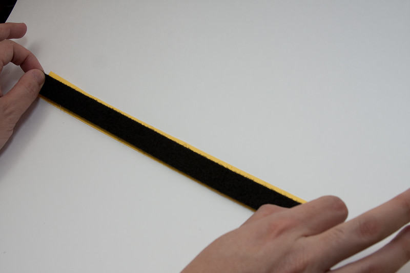 Stick the loop (softer) velcro tape to the grip tape