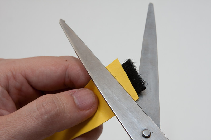 Trim off any overhanging tape on either side.