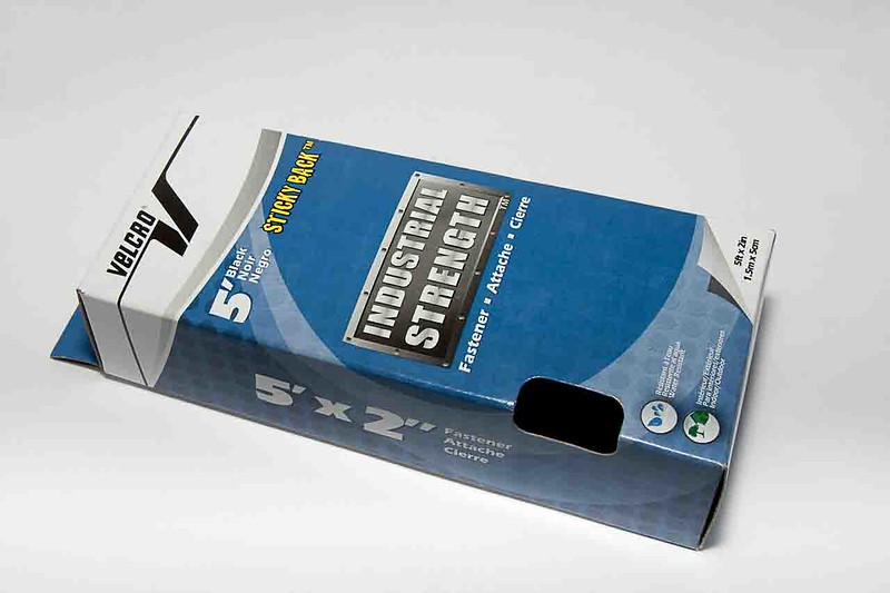 """Main Ingredient: 2"""" wide self-adhesive hook and loop fastener, about $7"""