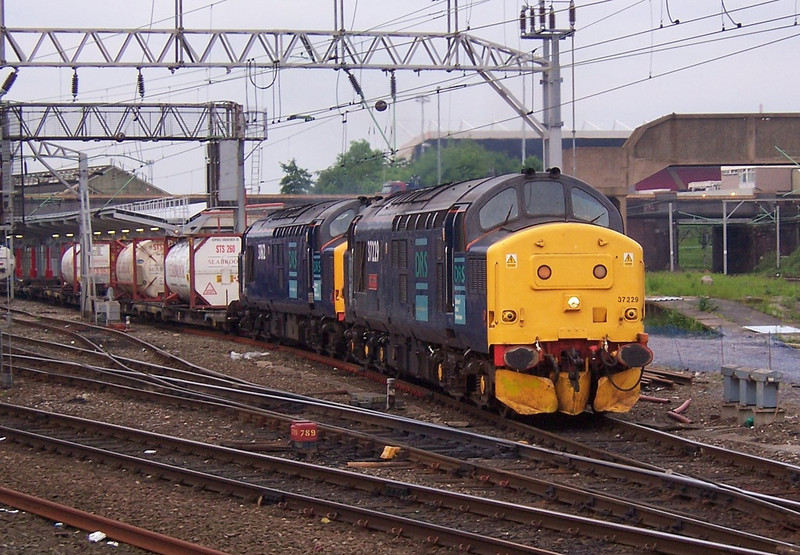 37229 and 37612, Crewe. June 2006.