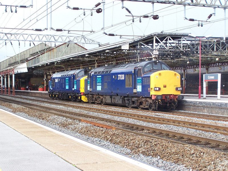 37038 and 37667. Crewe. September 2007.