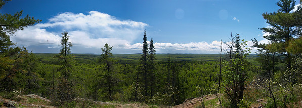 Looking east from on top of Eagle Mountain, MN.