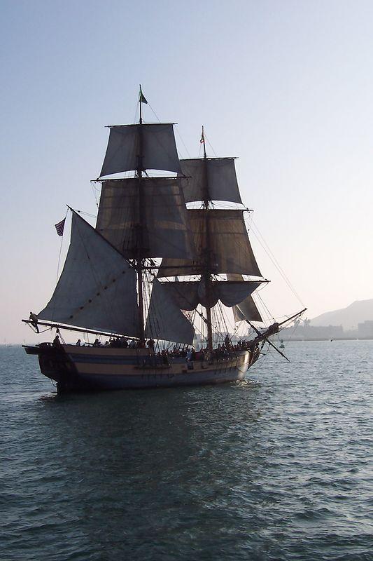 The Lady Washington aka the HMS Interceptor from the Pirates of the Caribbean movie.