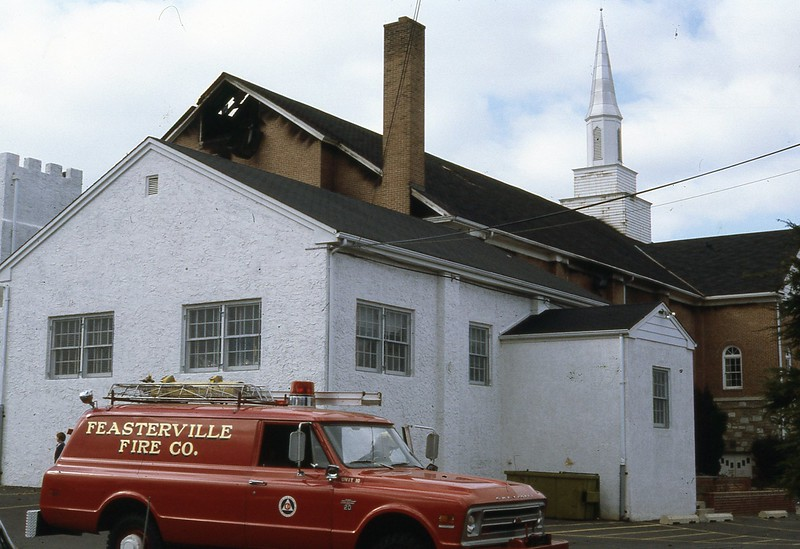Feasterville Baptist Church...late 1970s I'm assuming...maybe one of my firehouse buddies can date this one better.