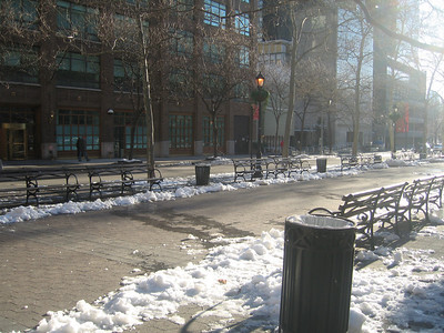 Dag Hammarskjold Plaza - Sunday Morning in Winter