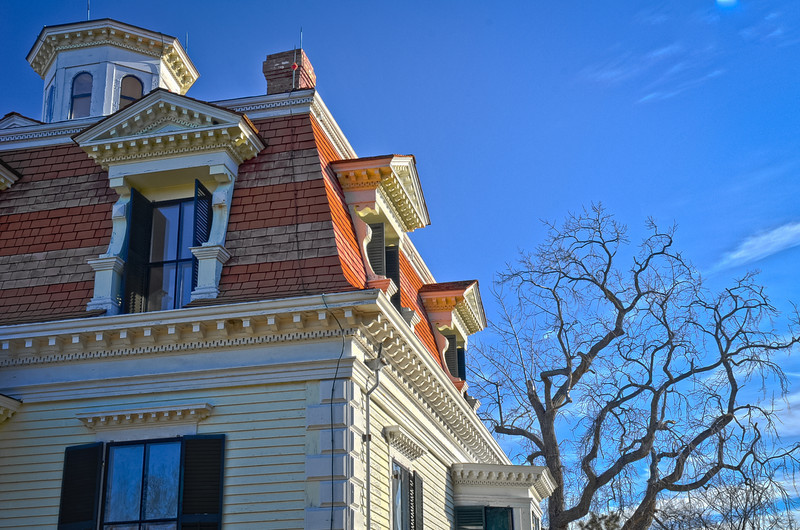 This is an example of the incredibly detailed architecture of the Penniman House.
