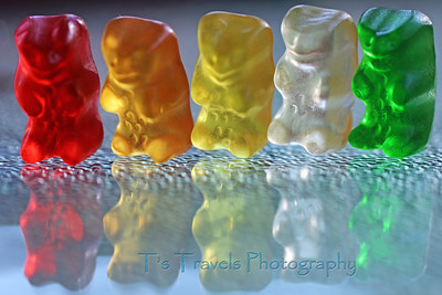 """Aug 25.  """"G"""" is for Gummi Bears!  As a child of immigrants from Germany, these were a staple growing up.  I can say I'm still quite fond of them.  The white ones (pineapple) are my favorite."""