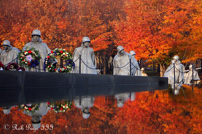 Daily photo for Veterans Day - November 11, 2009.  View the image in its  original gallery where there are other images from the DC war memorials on Veterans Day  The Korean War Veterans Memorial on Veteran's Day - Washington, DC ... November 11, 2006 ... Photo by Rob Page III