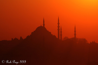 Daily Photo for June 6, 2011  Sunset at the Suleymaniye Mosque  - Istanbul, Turkey ... March 12, 2011 ... Photo by Rob Page III