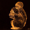 Dec 3rd<br /> <br /> Conked out so late up with this.<br /> <br /> This was a gift from a very good friend who visited the Waterford Crystal plant while in Ireland.<br /> The squirrel figurine is actually clear not colored, it took me a few tries to get the gold tint in the shot, then it was simple LAB and USM..Yep more experimenting, planned stuff-)<br /> <br /> <br /> Little Squirrel made of glass<br /> we all know your storied past<br /> Artisans craft you with loving care,<br /> but how did they catch your heart so rare<br /> A fire and brilliance that none can surpass,<br /> how did they catch in a piece of glass<br /> © NS
