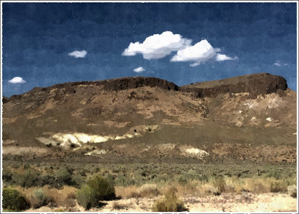 High Desert, Nevada (artistic filter)