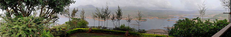 "Panorama <br /> (011 2nd year)<br /> Best seen in XLarge mode. <br /> <br /> This is my first panorama!  Made from 6 frames shot in manual mode. The view of the valley and the lake is from the balcony of the house where we spent the last weekend in Pawna. <br /> <br /> Will appreciate a frank appraisal of it... <br /> <br />  <a href=""http://www.javeri.net"">http://www.javeri.net</a><br /> <br /> offering the view from the balcony <br /> Best seen in XLarge size."