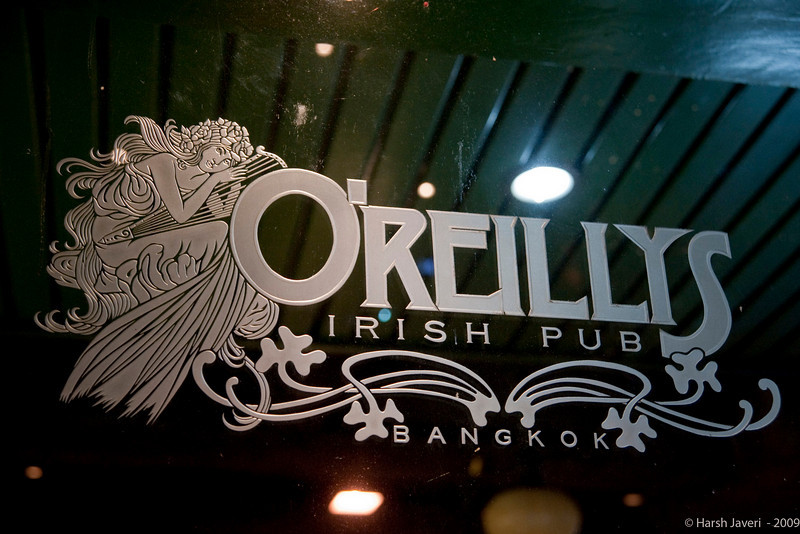 """O'Reillys (Pic 353 2nd year - 19 Jan 2010)<br /> <br /> Bangkok has quite a few British & Irish pubs, some of them run by British & Irish nationals. The decor & atmosphere is typically like original pubs too. I took this photo from inside the pub and then reversed the image.  <br /> <br />  <a href=""""http://www.javeri.net"""">http://www.javeri.net</a>"""