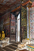 "Cave entrance (Pic 190 2nd year)<br /> <br /> Shot from the cave. Entrance to one of the five caves of Dambulla rock temple. The temple is composed of five caves, which have been converted into shrine rooms. The caves, built at the base of a 150m high rock during the Anuradhapura (1st Century BC to 993 AD) and Polonnaruwa times (1073 to 1250), are by far the most impressive of the many cave temples found in Sri Lanka. The largest cave measures about 52m from east to west, and 23m from the entrance to the back, this spectacular cave is 7m tall at its highest point. Hindu deities are also represented here, as are the kings Valgamba and Nissankamalla, and Ananda - the Buddha's most devoted disciple.<br /> <br /> <br />  <a href=""http://en.wikipedia.org/wiki/Dambulla_cave_temple"">http://en.wikipedia.org/wiki/Dambulla_cave_temple</a><br /> <br /> <br />  <a href=""http://www.javeri.net"">http://www.javeri.net</a>"