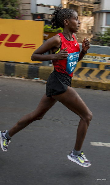 """4th year Pic 303 - Jan - 25 2013. <span style=""""color:yellow"""">SOSENA TEKLE, ETH Sosena Tekle, Ethiopia</span> -  Mumbai Marathon 2013, Mumbai <span style=""""color:cyan"""">Critiques welcome! BEST VIEWED in large size. </span>  Thank you so much for all your comments, putting """"Me & my shadow"""" in 2nd place yesterday!"""