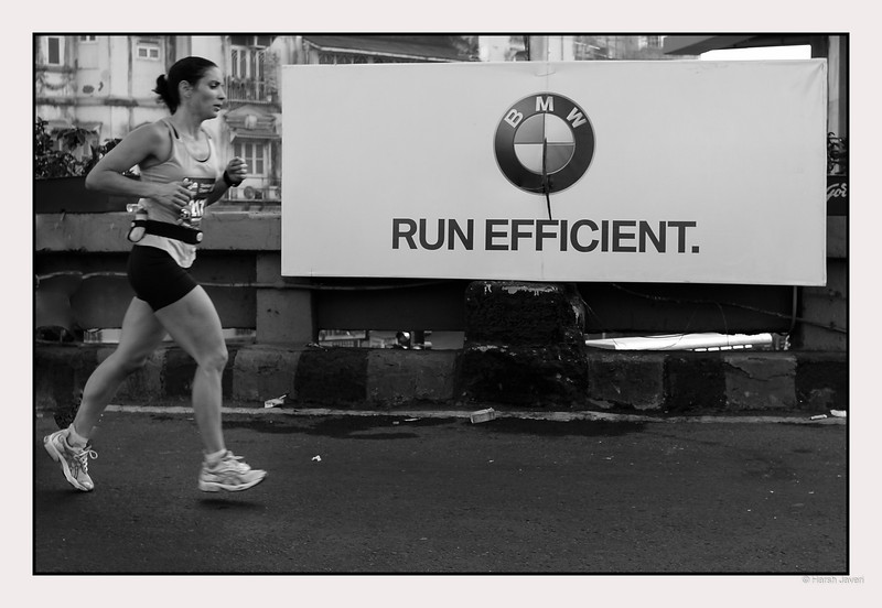 "4th year Pic 299 - Jan - 21 2013. <span style=""color:yellow"">Run efficient</span> -  Mumbai Marathon 2013, Mumbai <span style=""color:cyan"">Critiques welcome! BEST VIEWED in large size. </span>"