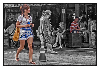 4th year Pic 181 - July - 19 2012 Chatuchak Mkt. , Bangkok  Chatuchak weekend market in Bangkok is the largest market in Thailand covering over 35 acres and contains upwards of 5,000 stalls. It is estimated that the market receives 200,000 visitors each day. Most stalls only open on Saturdays and Sundays. The market offers a wide variety of products including household items, clothing, Thai handicrafts, religious artifacts, collectibles, foods, and live animals. For tourists, there are a number of onsite companies who will send purchases abroad. Tourists also find Chatuchak a prominent place to find skilled Thai iced tea makers practicing their trade.   One can easily spend hours at the market, shopping & photographing!  http://en.wikipedia.org/wiki/Chatuchak_Weekend_Market
