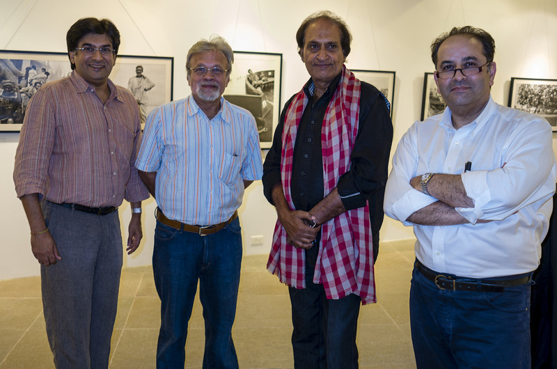 "4th year Pic 244 - Oct - 26 2012. <span style=""color:yellow"">With India's ace photographer Raghu Rai </span>- Mumbai Also in the frame are photography buddies Darshan & Sharookh (white shirt). We reached a bit early for the opening of his exhibition and were lucky that we were the only one around! He was gracious enough to let us have a look at his work and spend quality time with him!   <span style=""color:yellow"">""A photograph has picked up a fact of life, and that fact will live forever."" Raghu Rai</span>  Raghu Rai (born 1942) is India's leading photographer and photojournalist. He became a photographer in 1965, and in 1977 noticing his work, Henri Cartier-Bresson appointed Rai, then a young photojournalist to Magnum Photos.   He has served on the jury for World Press Photo from 1990 to 1997.   Raghu Rai has specialized in extensive coverage of India and produced more than 18 books, including Raghu Rai's Delhi, The Sikhs, Calcutta, Khajuraho, Taj Mahal, Tibet in Exile, India, and Mother Teresa.   His photo essays have appeared in many of the world's leading magazines and newspapers including Time, Life, GEO, The New York Times, Sunday Times, Newsweek, The Independent, and the New Yorker.  http://en.wikipedia.org/wiki/Raghu_Rai <span style=""color:cyan"">Critiques welcome! --- Here's a shot of Raghu Rai! </span> http://hershy.smugmug.com/Photography/Celebrities/26105875_933bDt#!i=2169371915&k=J98Gk5C"