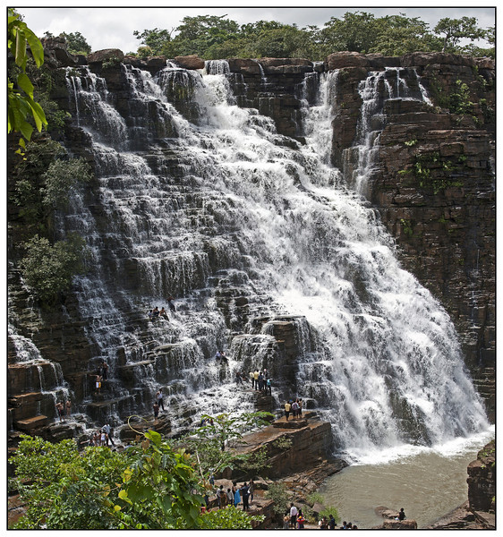 "4th year Pic 016 - Nov 14 2011 <span style=""color:yellow"">Tirathgarh Waterfalls</span> Vertical  Pano from 4 horizontal images <span style=""color:red"">Best viewed in XLarge size</span>  Tirathgarh Waterfalls are situated at a distance of 29 km. from Jagdalpur in Chattisgarh state. The waterfall is situated in Kanger Valley National Park and the height is approximately 300 ft in stages. This place is a favorite picnic spot, especially for large groups looking for a day-long picnic in a forest. The good season for visiting these waterfalls is from October to February."