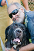 """173 17th Oct<br /> Sanjay with Joe <br /> Joe is a mix breed between St. Bernard (father) and Neopolitan Mastiff (mother). Though HUGE in size he was an absolute loving and lovable dog. Compare his head with Sanjay's and you get an idea of his size! This was at Aamby Valley 'zoo' where they have a few dogs beside other animals / birds.<br /> <br /> """"The best thing about a man is his dog.""""<br /> French Proverb<br /> <br /> Aamby Zoo :<br /> <br />  <a href=""""http://hershy.smugmug.com/gallery/4687024_TqsLg//274963454_tKfFw"""">http://hershy.smugmug.com/gallery/4687024_TqsLg//274963454_tKfFw</a><br /> <br /> <br />  <a href=""""http://www.javeri.net"""">http://www.javeri.net</a>"""