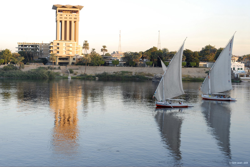 From a Felluca (sailboat) at Aswan, Egypt.