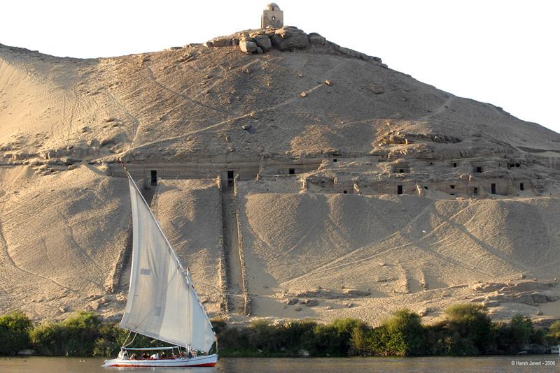 From a Felluca (sailboat) at Aswan, Egypt.