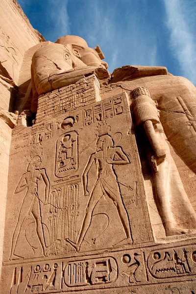 "Abu Simbel, Egypt<br /> <br /> Besides the Pyramids, a must-see in Egypt are the temples of Abu Simbel, situated 280 km from Aswan. The two temples built by Ramesses II are dedicated to Re-Harakhte, and that of his wife, Nefertari dedicated to Hathor. Built 3000 years ago, they were discovered by J. L. Burckhardt in 1813.<br /> <br /> The statues rise to 67 feet and are a majestic sight but the site is also famous for another reason. The original temples were built in a valley that was going to be submerged in Lake Naser with the waters from the new High Dam. In 1964 the Egyptian Govt., with the support of UNSECO shifted the temples, stone by stone; to the present site and took four years to complete.<br /> <br /> NO PP except for level adjustments.<br /> <br /> <br /> More pictures in Abu Simble gallery:<br /> <br />  <a href=""http://Hershy.smugmug.com/gallery/5455834_TMkdR/1/334512218_zscvq"">http://Hershy.smugmug.com/gallery/5455834_TMkdR/1/334512218_zscvq</a><br /> <br /> More details can be found at<br /> <br />  <a href=""http://www.touregypt.net/abusimbel.htm"">http://www.touregypt.net/abusimbel.htm</a><br /> <br />  <a href=""http://www.touregypt.net/featurestories/abusimbel.htm"">http://www.touregypt.net/featurestories/abusimbel.htm</a><br /> <br />  <a href=""http://www.javeri.net"">http://www.javeri.net</a>"
