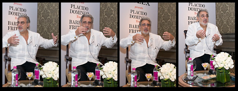 "168 12th Oct<br /> Placido Domingo <br /> <br /> I know this is similar to yesterday's picture of Zubin Mehta but like Zubin, Placido was also full of expressions and thought of sharing them with you all. <br /> <br /> The concert was as expected, AWESOME and worth every penny (Rupee)! It was at a stadium and a light drizzle started in the evening. Rains at this time of the year are unexpected but the organisers had not left anything to chance. The stage was well made for acoustics as well as rain and the spectators were given disposable raincoats! The drizzle slowed down considerably and stopped after half an hour and it was a unique experience! They played a variety of pieces - most are listed in my earlier picture - and it was a nonstop performance from 830 to 1020. It ended with a standing ovation and spectacular fireworks show. A memorable evening indeed! <br /> <br /> Shot at a press conference. D300 with 18-70mm<br /> <br />  <a href=""http://www.javeri.net"">http://www.javeri.net</a>"