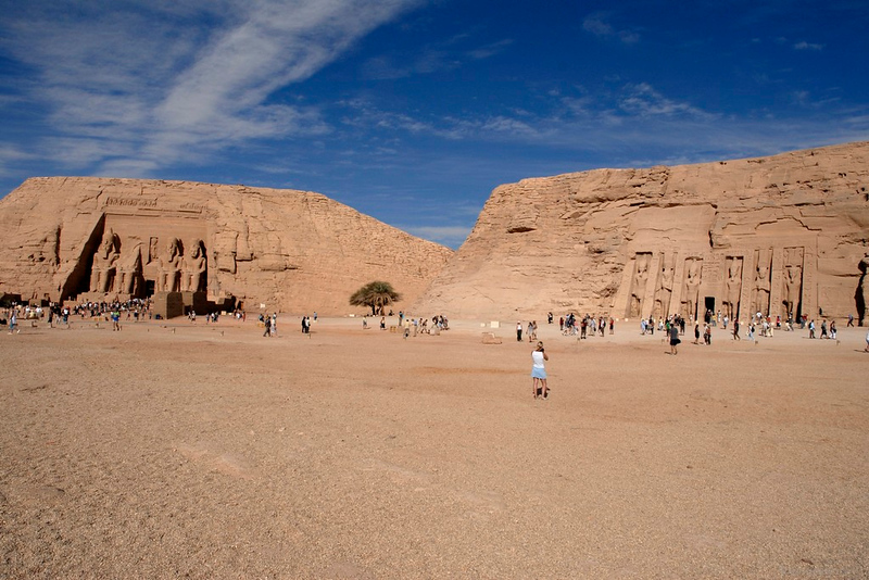 "Abu Simbel, Egypt<br /> <br /> Besides the Pyramids, a must-see in Egypt are the temples of Abu Simbel, situated 280 km from Aswan. The two temples built by Ramesses II are dedicated to Re-Harakhte, and that of his wife, Nefertari dedicated to Hathor. Built 3000 years ago, they were discovered by J. L. Burckhardt in 1813.<br /> <br /> The statues rise to 67 feet and are a majestic sight but the site is also famous for another reason. The original temples were built in a valley that was going to be submerged in Lake Naser with the waters from the new High Dam. In 1964 the Egyptian Govt., with the support of UNSECO shifted the temples, stone by stone; to the present site and took four years to complete.<br /> <br /> NO PP except for level adjustments. <br /> <br /> <br /> <br /> More pictures in Abu Simble gallery:<br /> <br />  <a href=""http://Hershy.smugmug.com/gallery/5455834_TMkdR/1/334512218_zscvq"">http://Hershy.smugmug.com/gallery/5455834_TMkdR/1/334512218_zscvq</a><br /> <br /> More details can be found at<br /> <br />  <a href=""http://www.touregypt.net/abusimbel.htm"">http://www.touregypt.net/abusimbel.htm</a><br /> <br />  <a href=""http://www.touregypt.net/featurestories/abusimbel.htm"">http://www.touregypt.net/featurestories/abusimbel.htm</a><br /> <br />  <a href=""http://www.javeri.net"">http://www.javeri.net</a>"